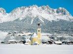 The village of Going am Wilden Kaiser