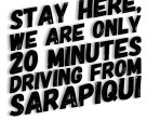 We are just 20 minutes driving from sarapiqui