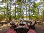 Enjoy your morning coffee on the Veranda outside home overlooking lake