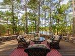 Enjoy your morning coffee on the Veranda outside home overlooking lake