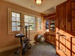 Work out room with lake views