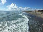 Breakfast on Cocoa Beach Pier (a short walk down the beach) with fabulous views
