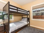 2nd Bedroom - The 2nd bedroom holds a twin-size bunk bed, perfect for the kids!