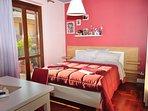 Camera da letto matrimoniale di casa vacanza aurora