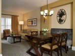 Sheraton Vistana Villages 2BR Living and Dining Area