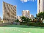 Aston at the Waikiki Banyan Basketball Ground
