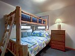 The kids will fall fast asleep in this twin-over-full bunk bed.