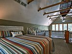 You'll have a bird's-eye-view from the master bedroom in the loft.