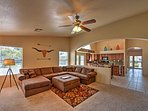 Unwind in the welcoming living room and watch your favorite show on the flat screen TV