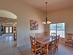 Enjoy your meals around this elegant formal dining table