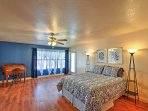 Get a rejuvenating night's slumber in the lovely master bedroom suite