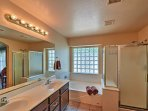 You'll practically feel like you're in a spa in the fabulous ensuite master bathroom