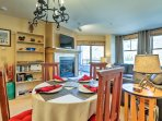 This condo comfortably accommodates up to 8 guests and offers access to 3 hot tubs, a sauna, fitness center, and more...