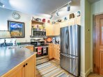 The fully stocked and equipped kitchen has everything to satisfy your cooking needs.