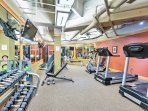 Fitness lovers will love the spacious fitness center with brand new equipment!