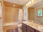 Ensuite bathroom with double sinks