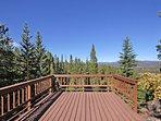 Spacious deck - views for miles!