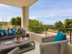 Balcony on the ground floor with views of the sea and the area