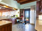 Fully equipped functional kitchen with all the appliances