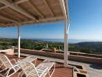 Panoramic views of surrounding area from the balcony of the bedroom