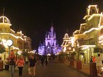 Disney Magic Kingdom at night