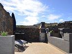 Terraza, barbacoa y solario