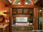 Master Bath Vanity and Jacuzzi at Waters Edge Lodge