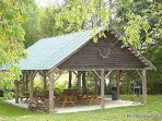Resort Picnic Shelter at Waters Edge Lodge