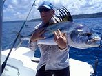 Dreams come true at Casa Rio Sierpe! This Rooster fish was a bucket list catch for this former guest