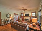 The 4BR, 4.5-bath vacation rental home sleeps 8 guests.
