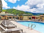 Sheraton Steamboat Two Bedroom Premium Condo Pool Area with Hot Tub