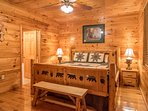 Four king bedrooms with on suite bathrooms.