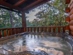The hot tub is the perfect place to unwind after a day in the Smokies!