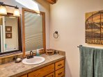The home features 2.5 bathrooms, offering plentiful space to get ready in the mornings.