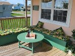 Sit, relax and enjoy your company as you watch the waves or a game of horseshoes