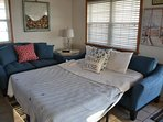 Two  queen posturepedic sofa sleepers in addition to 4 queen beds