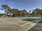 Play a round of tennis for an easy work out during your stay.