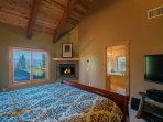 The Master Bedroom provides a picture-perfect way to end your day: gas fireplace lit, the stars out the window, and...