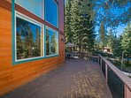 There is ample space on the wrap around deck for relaxing in the open air of the great outdoors.