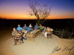 'Toro Views' lounge and dining area, with a large viewing deck & open plan boma catering under-stars