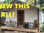 Off-grid heated All-season Lakeside Soft-cabin on 104 Acre Private Nature Park