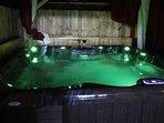 Hot tub at night
