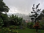 Even in the mist, Boquete is beautiful - view from the terrace.