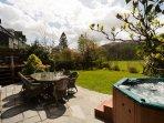 Large garden hot tub