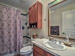 The condo features 2 full bathrooms.