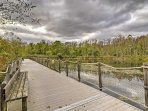 Take a stroll down by the pond.