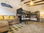 Guest casita with two sets of twin bunk beds