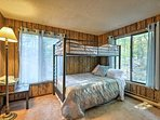 Four guests can share this room with a twin-over-full bunk bed and twin trundle pullout.