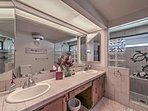 Use this his and hers sinks in the bathroom to get ready for the day.