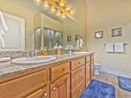 Master Bath with Dual Sinks, a Jetted Tub and Shower